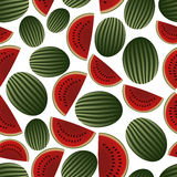 Colorful melon fruits and half fruits seamless pattern eps10 Royalty Free Stock Photography