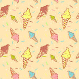 Colorful melting ice-cream seamless pattern Royalty Free Stock Photo