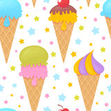 Colorful melting ice-cream seamless pattern Royalty Free Stock Images