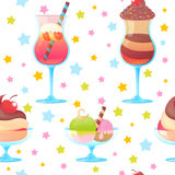 Colorful melting ice-cream seamless pattern Royalty Free Stock Image