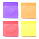 Colorful memo stick Royalty Free Stock Image