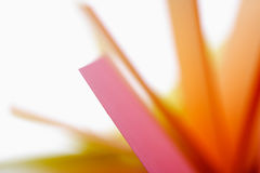 Colorful memos, blurred Royalty Free Stock Photos