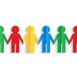 Colorful men of color paper. On white background Royalty Free Stock Image