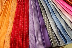 Colorful Men`s Ties in a department store, Portland, Oregon Stock Image