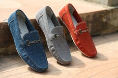 Colorful mens leather shoes