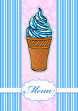 Colorful menu with ice cream icon Stock Photography