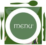 Colorful Menu label  Royalty Free Stock Images