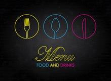 Colorful menu Stock Photography