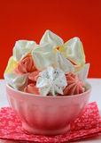 Colorful meringue beze cookies in a cup Stock Image