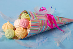 Colorful meringues Royalty Free Stock Image
