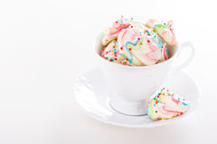 Colorful meringues rainbow colors Stock Photography
