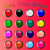 Colorful merry cheery shiny buttons Stock Images