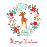 Colorful Merry Christmas card Royalty Free Stock Photography