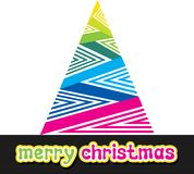 Colorful merry christmas design Stock Image
