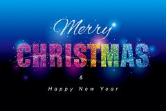 Colorful Merry Christmas Stock Illustration