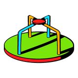 Colorful merry-go-round icon, icon cartoon Royalty Free Stock Images