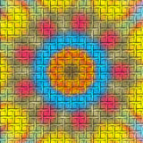 Colorful mesh. A blue,yellow and red colorful mesh royalty free illustration
