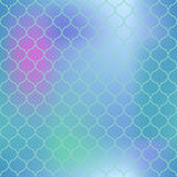 Colorful mesh fish skin  pattern. Fish scale seamless pattern for marine design. Fishscale pattern square tile. Mermaid tail ornament for romantic sea banner Royalty Free Stock Photo