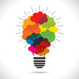 Colorful message bubble bulb Royalty Free Stock Photos