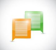 Colorful message bubbles. communication concept. stock illustration