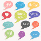 Colorful Message Bubbles / Stickers Set - vector eps10 Stock Photos