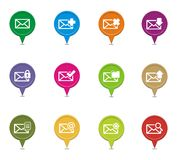 Colorful messaging pointer sets Stock Photos
