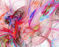 Colorful messy abstract image Royalty Free Stock Photography