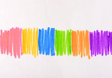 Colorful messy pen drawing line Royalty Free Stock Photo