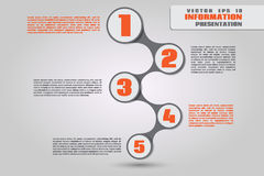 Colorful metaball diagram for infographics Stock Image