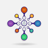 Colorful metaball diagram Royalty Free Stock Image