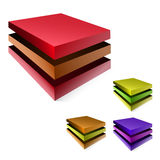 Colorful metal boxes Stock Image