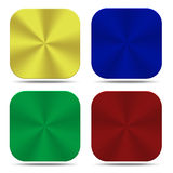 Colorful metal button icons isolated Royalty Free Stock Images