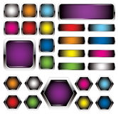 Colorful metal buttons Stock Photos