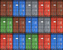 Colorful metal freight shipping containers Royalty Free Stock Photo