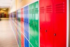 Colorful metal lockers Royalty Free Stock Photo