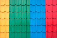 Colorful metal sheet roof Stock Photography