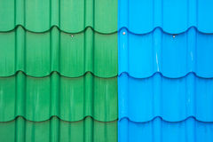 Colorful metal sheet roof Royalty Free Stock Photo