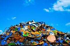 Colorful metal waste Stock Photos