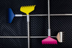 Colorful metallic back scratcher. Royalty Free Stock Image