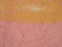 Pink and yellow wall Royalty Free Stock Photos