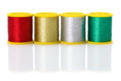 Colorful metallic threads Royalty Free Stock Photo
