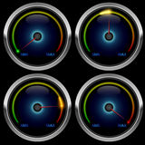 Colorful meter gauge Stock Images