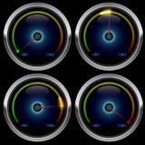 Colorful meter gauge vector illustration