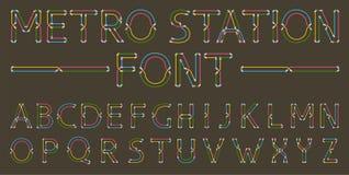 Metro styled font for dark background stock illustration