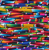 Colorful Mexican blankets Stock Photos
