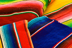 Colorful mexican blankets Royalty Free Stock Images