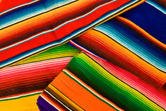 Colorful mexican blankets Stock Photography