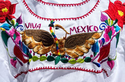 Colorful Mexican blouse for Independence Day Royalty Free Stock Image