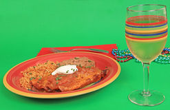 Colorful Mexican Dinner Stock Photography