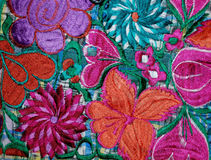 Colorful Mexican embroidery Royalty Free Stock Photo